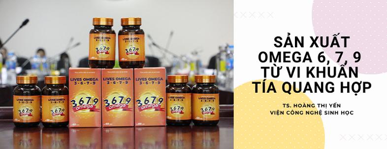 sản xuất omega 6, 7, 9 từ vi khuẩn tía quang hợp